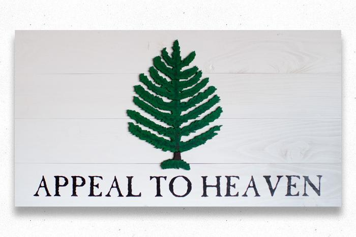 Appeal To Heaven Wood Flag