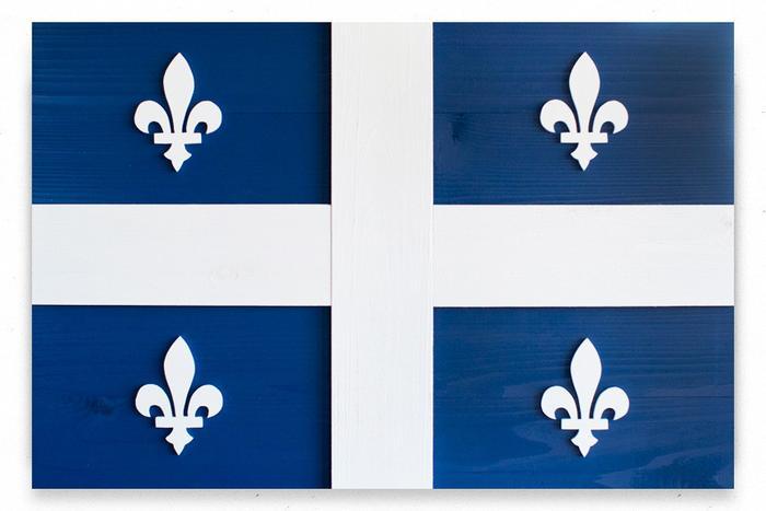 Quebec Wood Flag