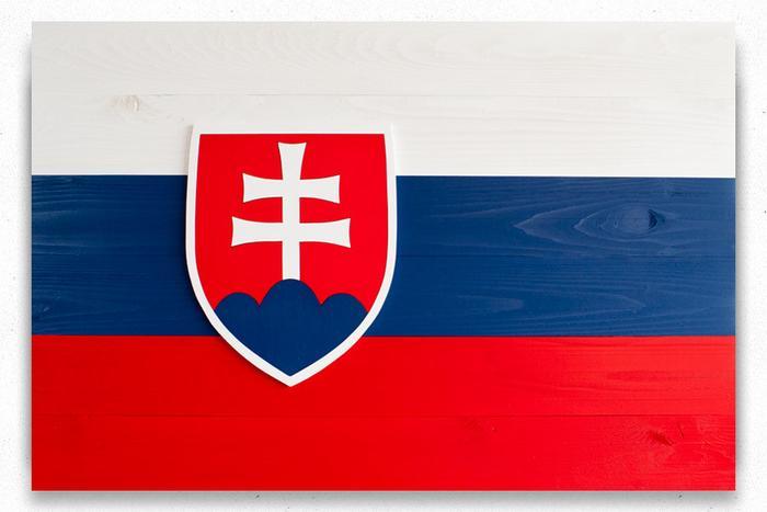 Slovakia Wood Flag