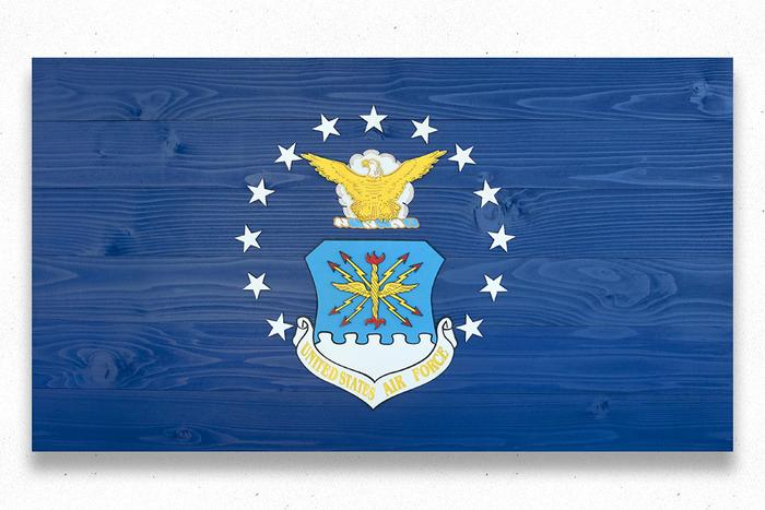US Air Force Wood Flag