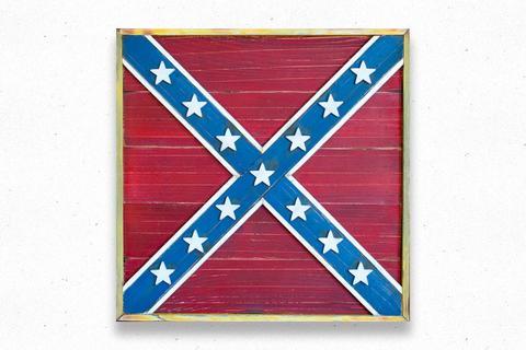 North Virginia Battle Vintage Wood Flag