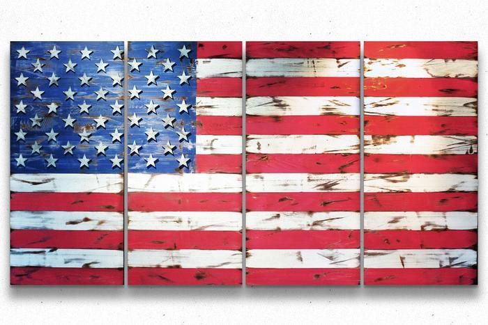American Vintage 8-Foot Wood Flag