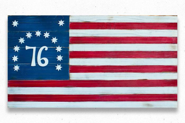 Bennington 1776 Vintage Wood Flag