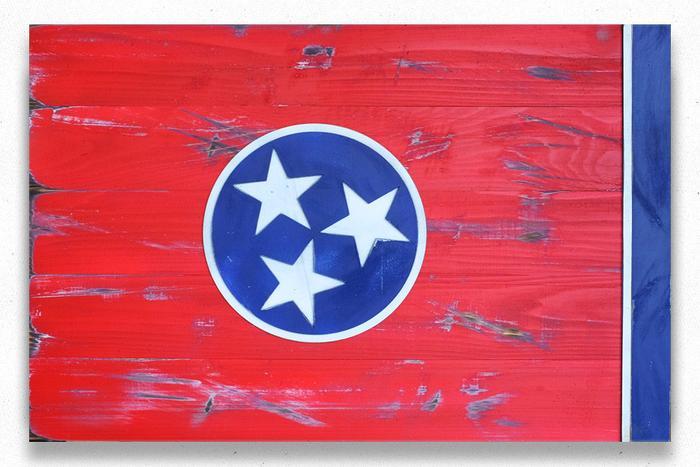 Tennessee Vintage Wood Flag