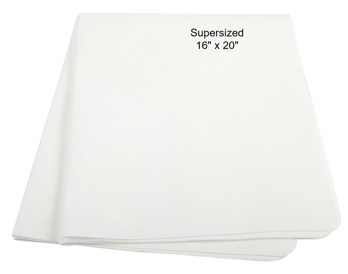 Classic White Supersized 'BadBoy' Cleaning Cloths: Labor Day Super Special of 3 for $18.90 or 10 for $54