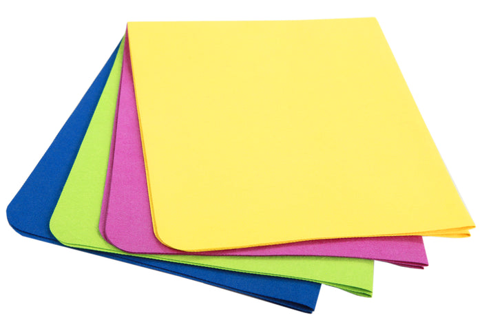 UltimateCloth COLORS: Save 20% on a 4-Pack of Standard Sized MiraFiber Cleaning Cloths in 4 Bright Colors