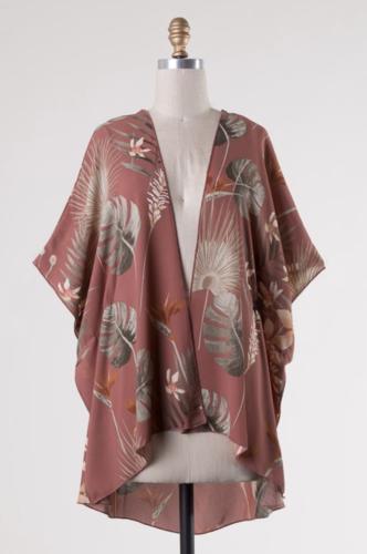 Mauve Kimono Top