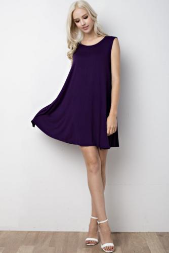 Trapeze Sleeveless Dress