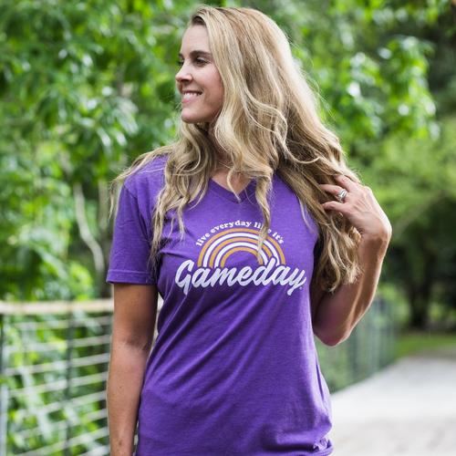Purple And Gold Live Every Day Like It's Game Day T Shirt Top