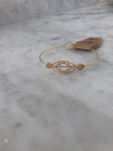Gold Oval Bracelet