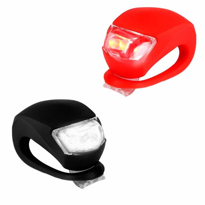 Front White & Rear Red LED Lights Set - USB Rechargeable