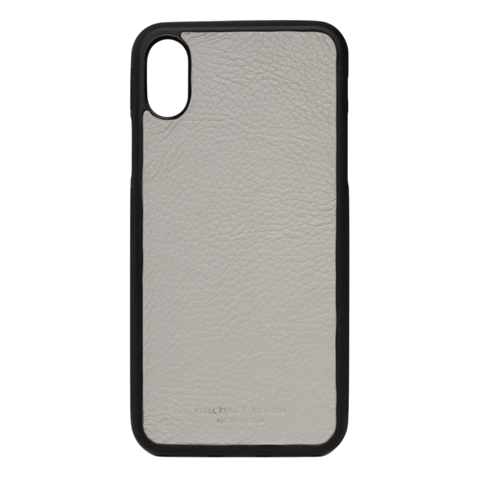 Grey Pebbled Leather iPhone XS Max Case