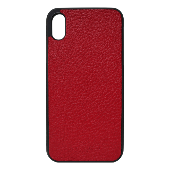 Red Pebbled Leather iPhone XS Max Case