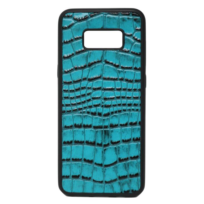 Turquoise Croc Galaxy S8 Plus Case