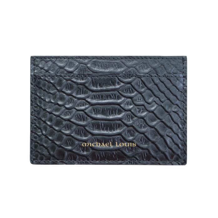 Black Python Classic Card Holder