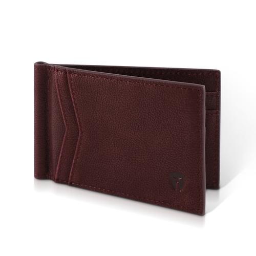 Minimalist RFID Wallet - Rogue Red Full Grain Leather