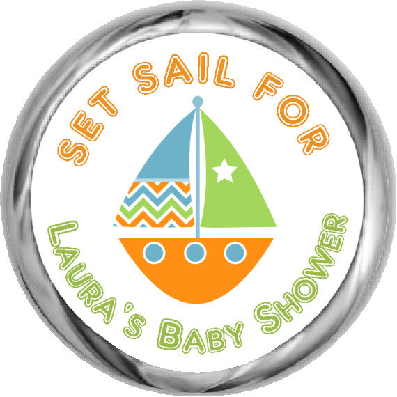 Sail Boat Stickers ~ Neutral Baby Shower (#HKS11)