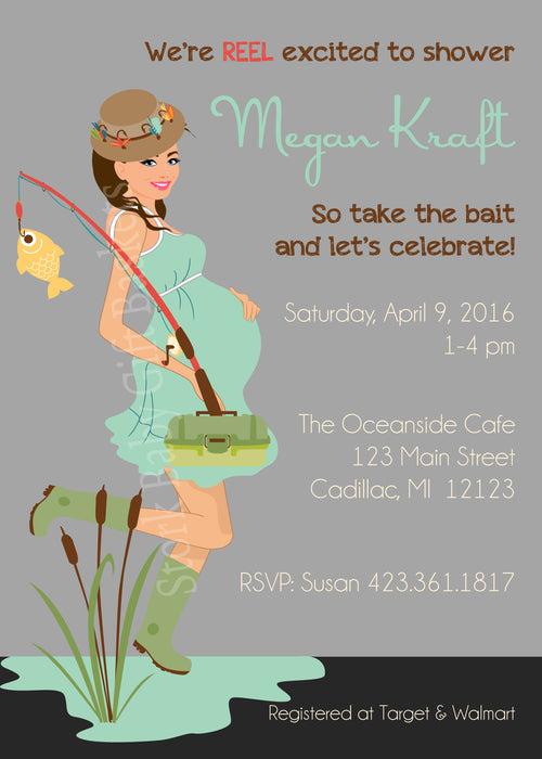 Fishing Mama Baby Shower Invitation (#SBGB110)