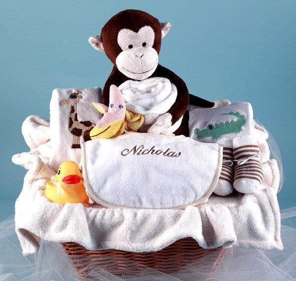 Monkey & Pals Gift Basket (#BGC35)