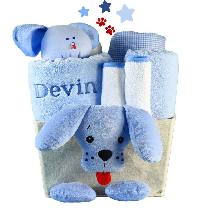Puppy Plush Baby Shower Basket (#BGC369)