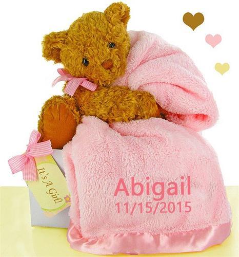 Pretty in Pink Blanket Set (#BBC94)