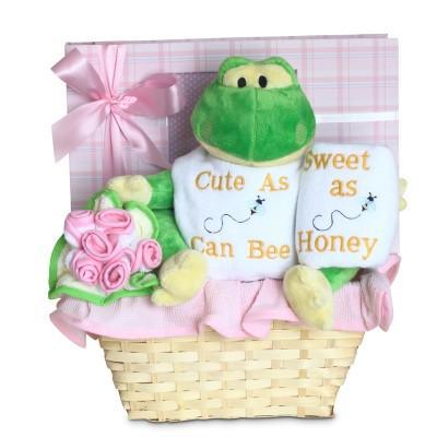 Cute and Sweet Baby Girl Basket (#BGC328)