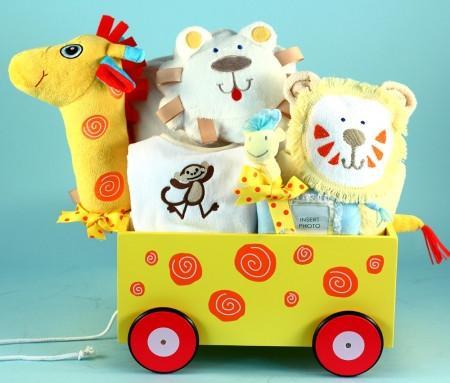 Circus Wooden Wagon for Newborn Babies (#BGC209)