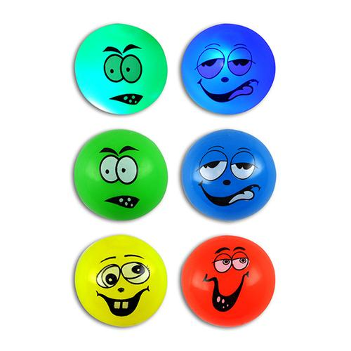 Neon Light-Up Goofy Face Bounce Balls (12ct)