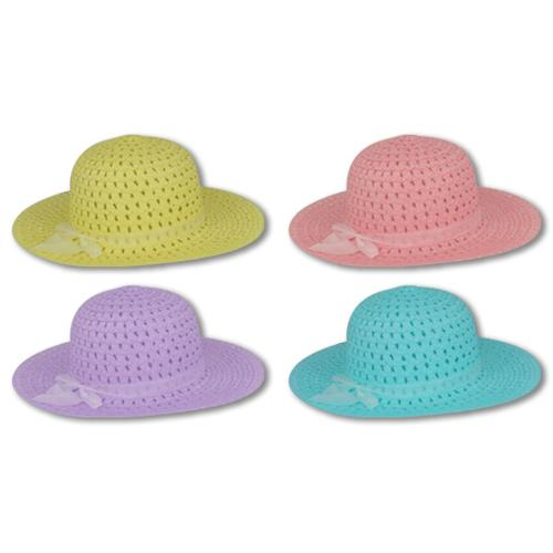 Pastel Straw Hats (1ct)