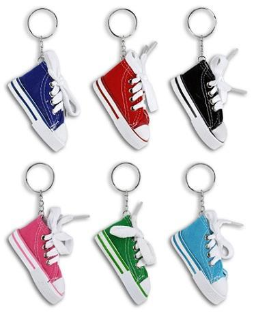 Colorful Sneaker Key Chains (one dozen)
