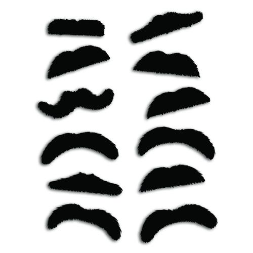 Fuzzy Mustaches (Gross-144ct)