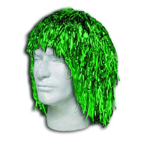 Green Metallic Tinsel Wig (Each)