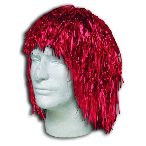 Red Metallic Tinsel Wig (Each)