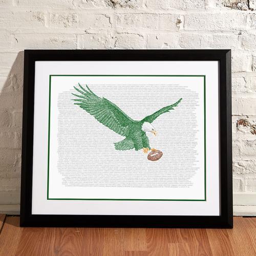 "Philadelphia Eagles All Time Roster Print - 16"" x 20"""