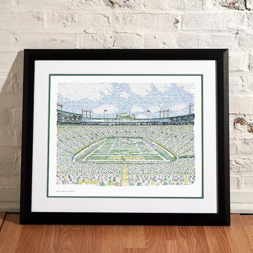 "Lambeau Field - Packers All Time Roster Word Art Print - 16"" x 20"""