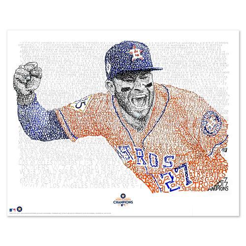 "2017 Houston Astros Road to the World Series Word Art Print - 16"" x 20"""