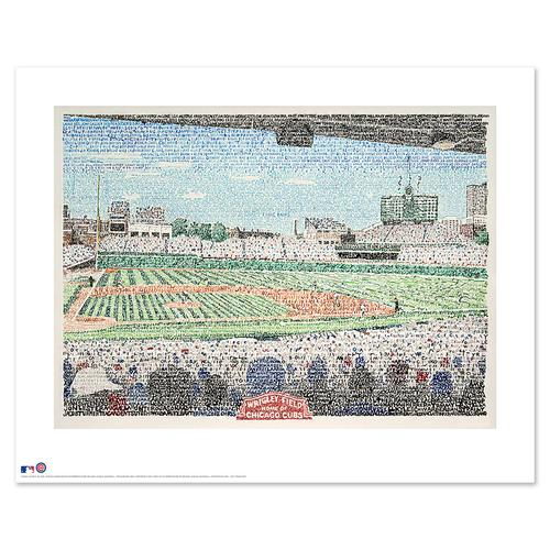 "Wrigley Field - Cubs All Time Roster Word Art Print - 16"" x 20"""