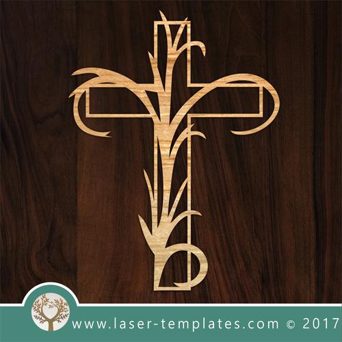 Delicate Cross Template