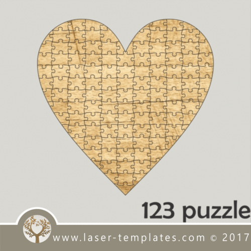 123 heart puzzle
