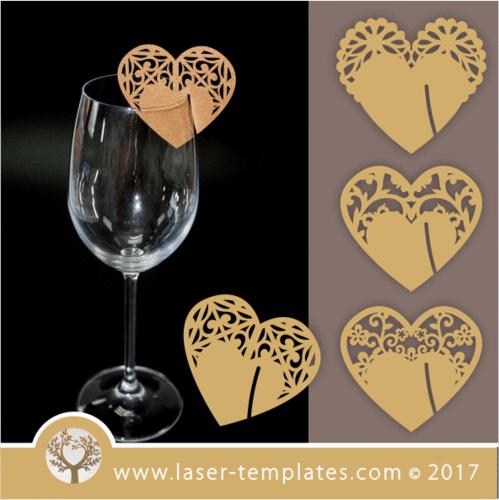 Heart Glass Decoration Set