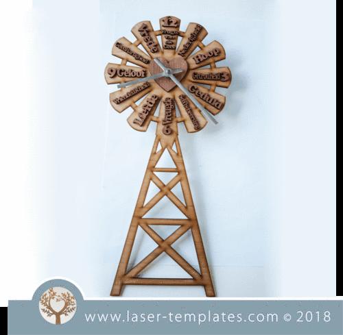 Windmill Clock Afrikaans (Vrugte van die Gees)