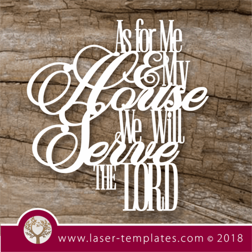 'As for me and my house, we will serve the Lord' wall art