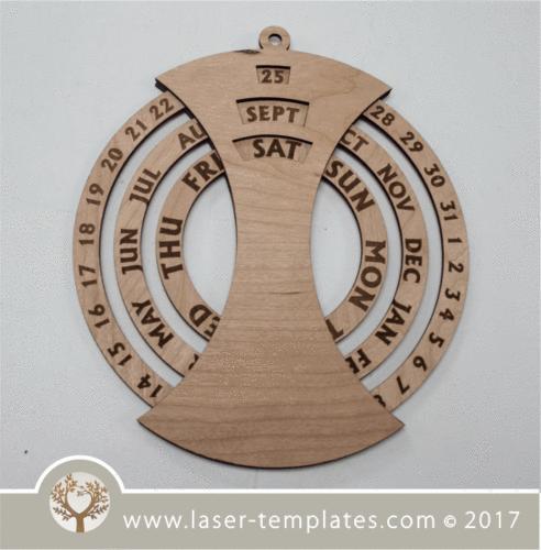 3mm Round Calendar with foot piece