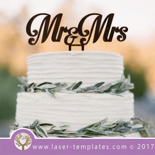 Mr & Mrs Cake Topper 3