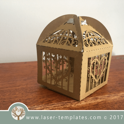 Heart In Cage Paper Box