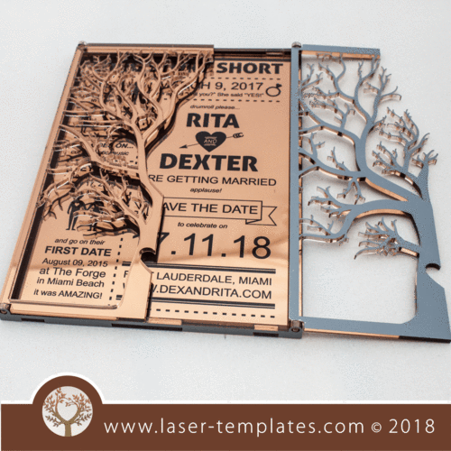 3mm Folding Tree Card