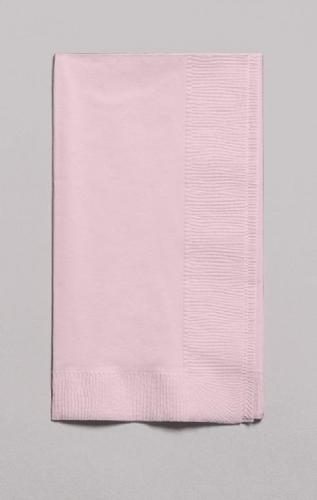 Classic Pink Dinner Napkin, 2 Ply, 1/8 Fold (600/case)