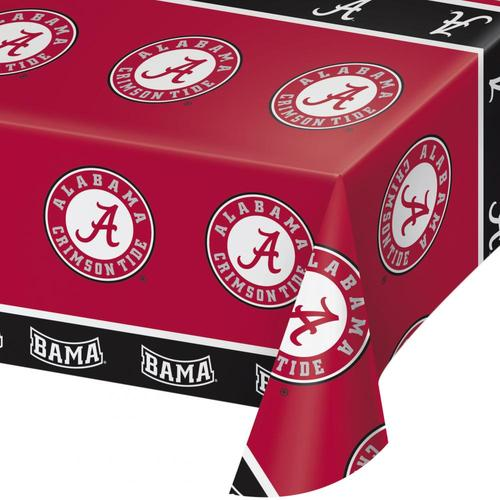 University of Alabama Tablecover, Plastic 54 inch x 108 inch (12/case)