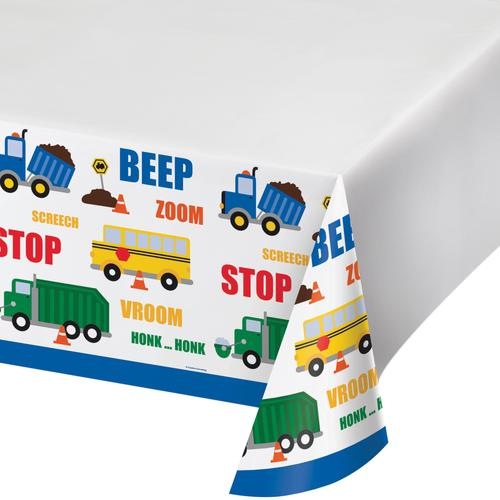 Traffic Jam Tablecover, Plastic 48 inch x88 inch (12/case)