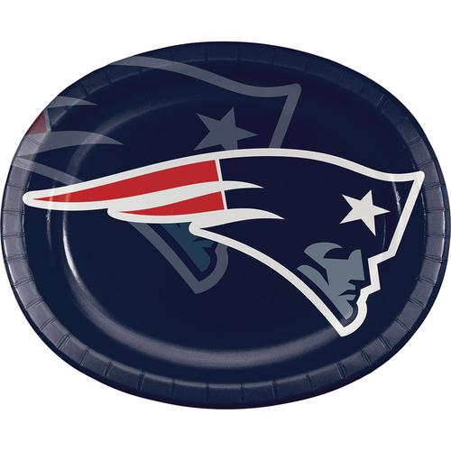 New England Patriots 10''x 12'' Oval Platters, Paper (96/case)